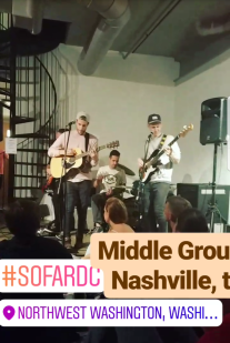Middle Ground had a soft alternative sound - cool dudes (shared my payday bites too lol)